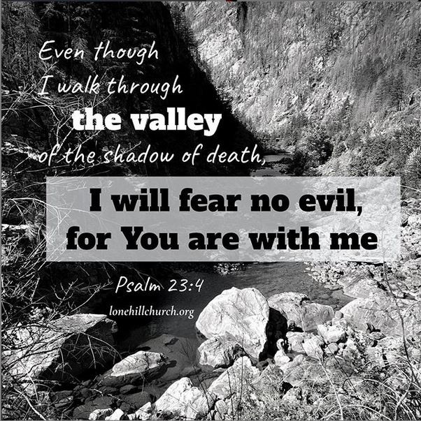 For You Are With Me - Psalm 23:4