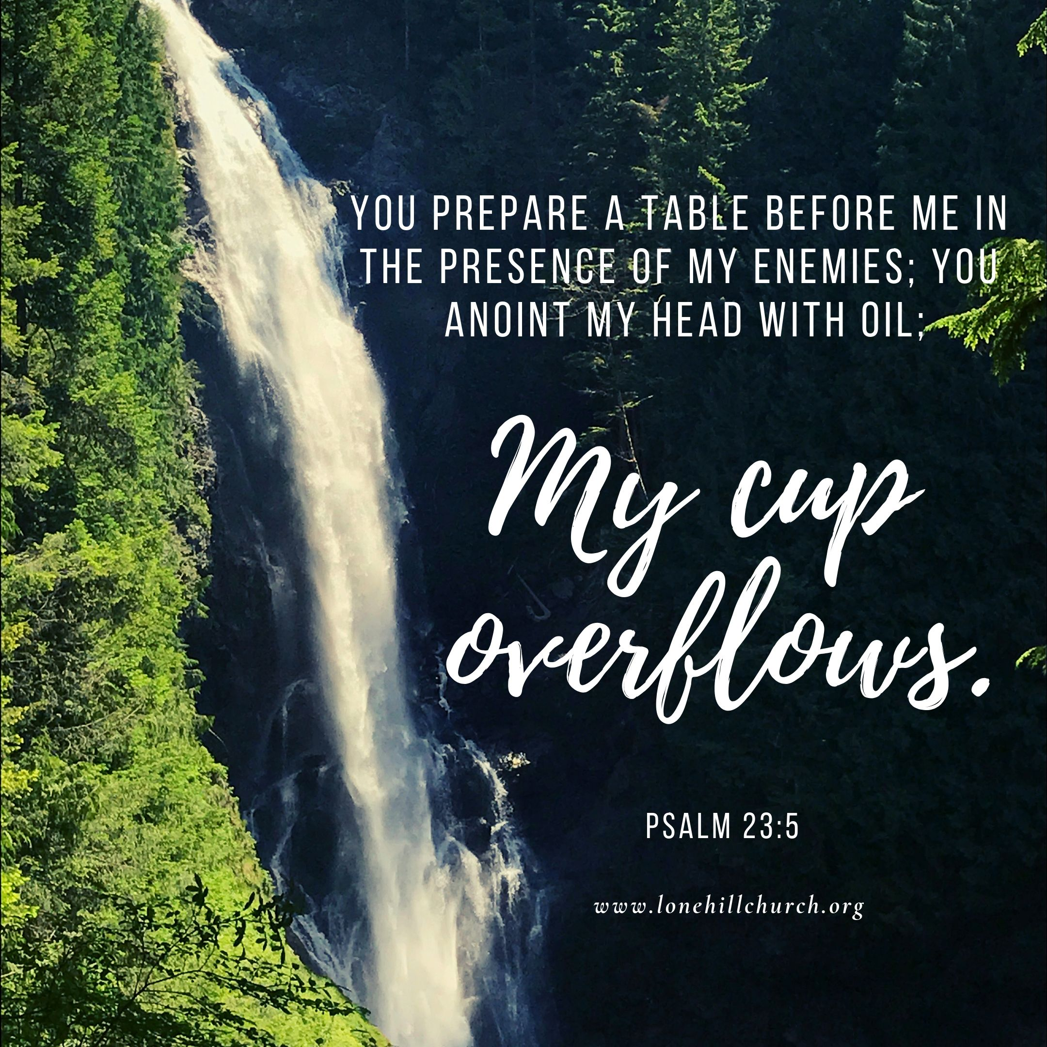 My Cup Overflows Psalm 23 5 Pastor S Heart